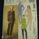 Long Tunic Princess Seams,Slim Pants McCalls 3466 UNCUT 12-14-16