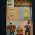 Lamb Duck Bug Pumpkin Witch Halloween Costume Pattern Child Children Size 1/2,1,2,3,4