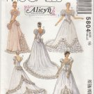 Wedding Bridal Bridesmaid Gowns Dress Victorian Style 5804 McCalls size 6 Free Shipping