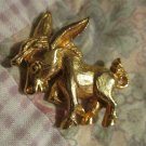 VINTAGE GOLD TONE MULE FIGURAL DONKEY PIN Too Cute FREE SHIPPING