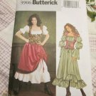Butterick Costume Pattern 3906 Pirate Medieval Wench Barmaid Dress Size 6,8,10  UNCUT