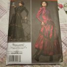 Misses Costume Gothic Steampunk  Dress Jacket Skirt Pattern Arki Vestry  Size 6,8,10,12