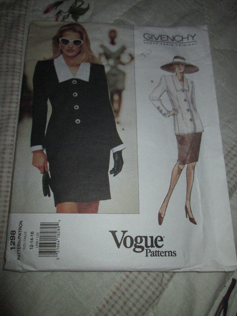 GIVENCHY designer 1298 Pattern VogueMisses Skirt Jacket ...