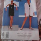 Donna Karan Designer Dress and Jacket Vogue Pattern 1569 Size 8,10,12