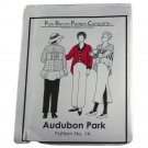 Park Bench Pattern Company Sewing Pattern #14 Audubon Park Swing Coat One Size Fits Most