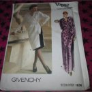Uncut Vogue 1636 Sewing Pattern, Misses' Dress & Skirt, Size 16, Givenchy