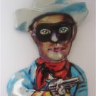 Vintage Lone Ranger  Tin Litho Pin (Japan) Western