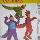 McCalls Toddler Childs Dinosaur Dragon Halloween Costume Pattern 2335 Size 3-4 FREE SHIPPING