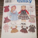 "Simplicity 9381 Pattern UNCUT to make 18"" Clothes Design Your Own American Girl Easy Doll Clothes"