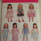 "2014 SIMPLICITY Craft 1484 American Girl Sized Sewing Pattern 18"" Doll Clothes Uncut"