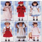 "Butterick Clthing Pattern 18"" Doll Fits American Girl 6 Outfits and accessories Patterns UNCUT"