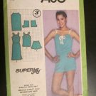 Vintage Simplicity 9460 80's Pullover Drawstring Sundress Top Shorts Pattern Size 12 Cut