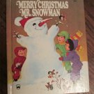 Vintage Children's Wonder Book ~ MERRY CHRISTMAS MR. SNOWMAN