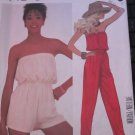 Uncut McCalls Misses 10-12-14 Long/Short Jumpsuit Pattern 2030 Strapless Romper