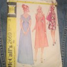 McCall's 2669 Vintage 70's Sewing Pattern Criss Cross Empire Waist Formal Maxi Gown