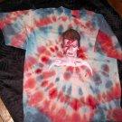 BEAUTFUL TYE DYE David Bowie -Aladdin Sane T-Shirt Size Adult XL (Glam Rock)