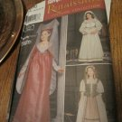 SIMPLICITY PATTERN 9836 CHILD'S RENAISSANCE LADY, MAIDEN COSTUMES Size 7,8,10,12,14 Uncut