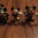 DISNEY MICKEY MOUSE 1980's PVC FIGURE LOT Cake Topper Figurines