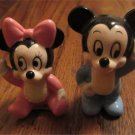 Vintage Baby Mickey and Minnie Mouse DISNEY Japan Porcelain Figures FREE SHIPPING