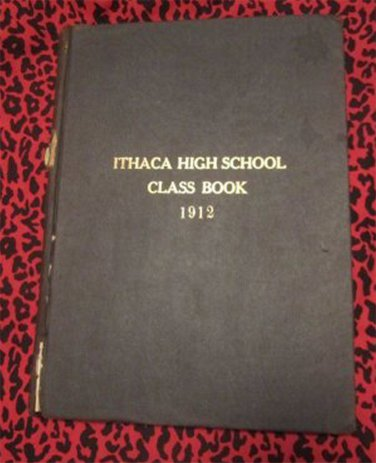 RARE Vintage Ithaca High School Class Book 1912 Ithaca NY (Yearbook,Annual)FREE SHIPPING