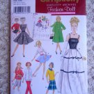 Barbie RETRO VINTAGE CLOTHES Coat, Dress etc Pattern Simplicity 5785 UNCUT FREE SHIPPING