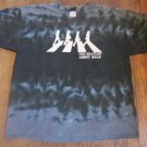 The Beatles Abbey Road Retro Tie Dye Liquid Blue Adult Size XL Gray Shirt FREE SHIPPING