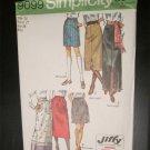 Vintage Simplicity 9099 MINI MIDI MAXI LENGTH SKIRT Sewing Pattern UNCUT Women Sz 14