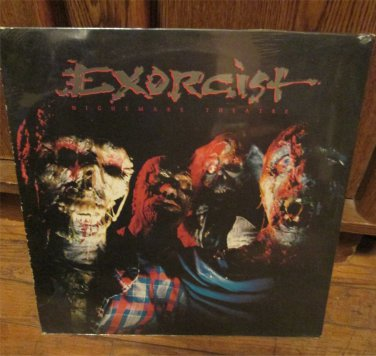 EXORCIST Lp Record NIGHTMARE THEATRE Rare NYC Thrash Speed Metal Cobra FREE SHIPPING