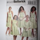BUTTERICK 5322 UNCUT Bridesmaid Prom Dresses Halter & Sleeve Size 8 10 11 12 14