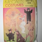 McCall's 8953 Easy To Sew Animal Costumes Bunny Kangaroo Bear Cat Adult LARGE 38,40