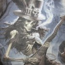 Skeleton Guitarist Graveyard Raising the Dead Tie Dye T-Shirt Size XL Slash FREE SHIPPING