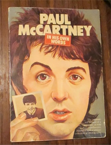 PAUL McCARTNEY In His Own Words Softcover book from 1976 THE BEATLES FREE SHIPPING
