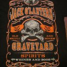 *SALE* Jack O' Lantern Graveyard Spirits Whines and Boos BAT Skull Halloween Shirt Medium