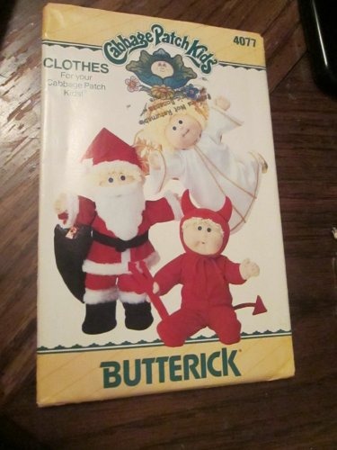 Vintage New Butterick Pattern 4077 Cabbage Patch Kids Christmas santa,Devil Angel