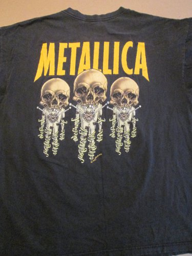 "VINTAGE Metallica Vintage Band Shirt "" Fixxer "" T-shirt by Giant Size. XL FREE SHIPPING"