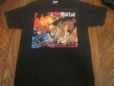 Meatloaf -The Monster is Loose Seize The Night Tour 2007 Concert Shirt Size Medium