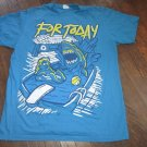 For Today Band Shirt Blue Shark Attack Shirt Mens Size Large FREE SHIPPING