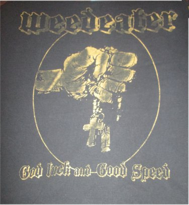Weedeater god luck and good speed shirt Size Medium Doom Metal FREE SHIPPING