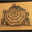 Judi Kins Carmen's Veranda Large Rubber Stamp Umbrella Girls FREE SHIPPING