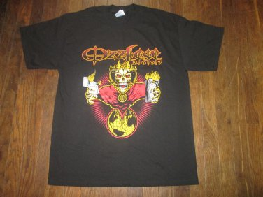 OZZ Fest Ozzy Osbourne Demon Burning Money Concert Tour Shirt Men's LARGE FREE SHIPPING