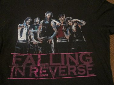 Vintage Falling In Reverse Band Shirt Ladies Fitted FREE SHIPPING