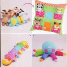 SIMPLICITY SEWING PATTERN 8156 PILLOW HOUSE W/ TOY ANIMALS & CATERPILLAR OCTOPUS FREE SHIPPING