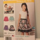 Simplicity 8106 Girls' and Girls' Plus Skirts Sewing Pattern FREE SHIPPING