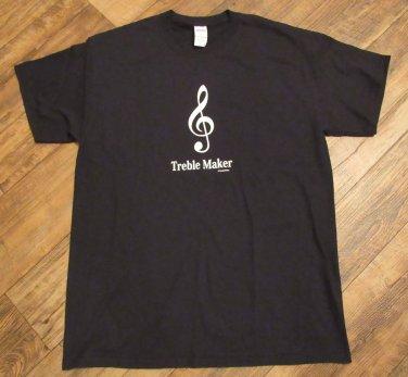 TREBLE MAKER TROUBLE MAKER MUSIC  Adult Large T-Shirt NEW