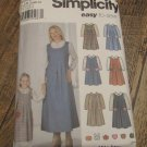 Simplicity 5900 Size A Mother and Daughter Blouse and Jumper 3-8/6-18 FREE SHIPPING