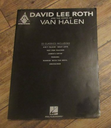 David Lee Roth and the Songs of Van Halen Softcover book Guitar tablature Hal Leonard 80s