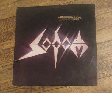 Sodom Expurse Of Sodomy 1st Pressing Steamhammer Clear Vinyl Promotional Copy