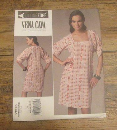 Vogue 1228 Cutting Edge Vena Cava Dress Pattern Sizes 16,18,20,22 FREE SHIPPING