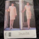Vogue 1866 Oscar De La Renta Dress Jacket sewing pattern sizes 8 10 12 UNCUT