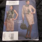 Vogue Sewing Pattern 1127 Misses Size 14-20 Badgley Mischka Jacket Skirt Blouse Suit